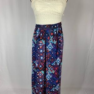 Lily rose strapless maxi dress size small